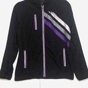 Adidas Lightweight 3 striped Hooded zip Jacket